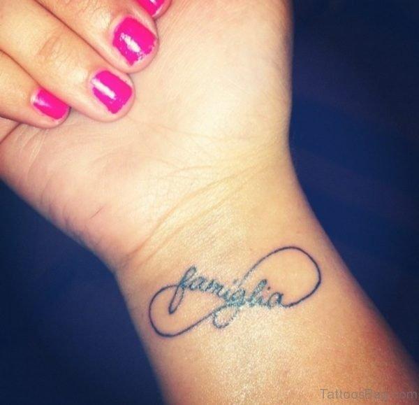 Awesome Infinity Tattoo On Wrist