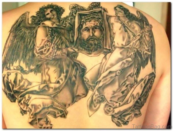 Awesome Jesus Tattoo On Back