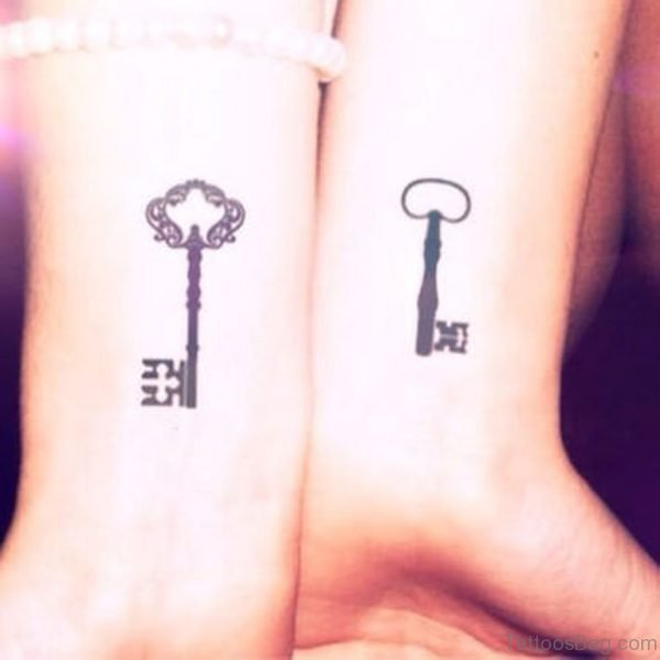 Awesome Key Tattoo Design