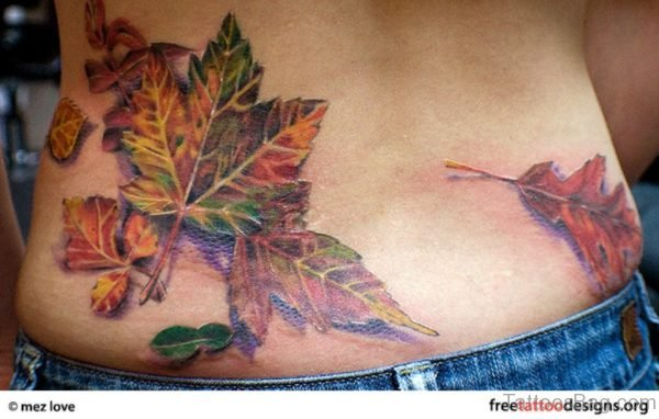 Awesome Leaves Tattoo Design