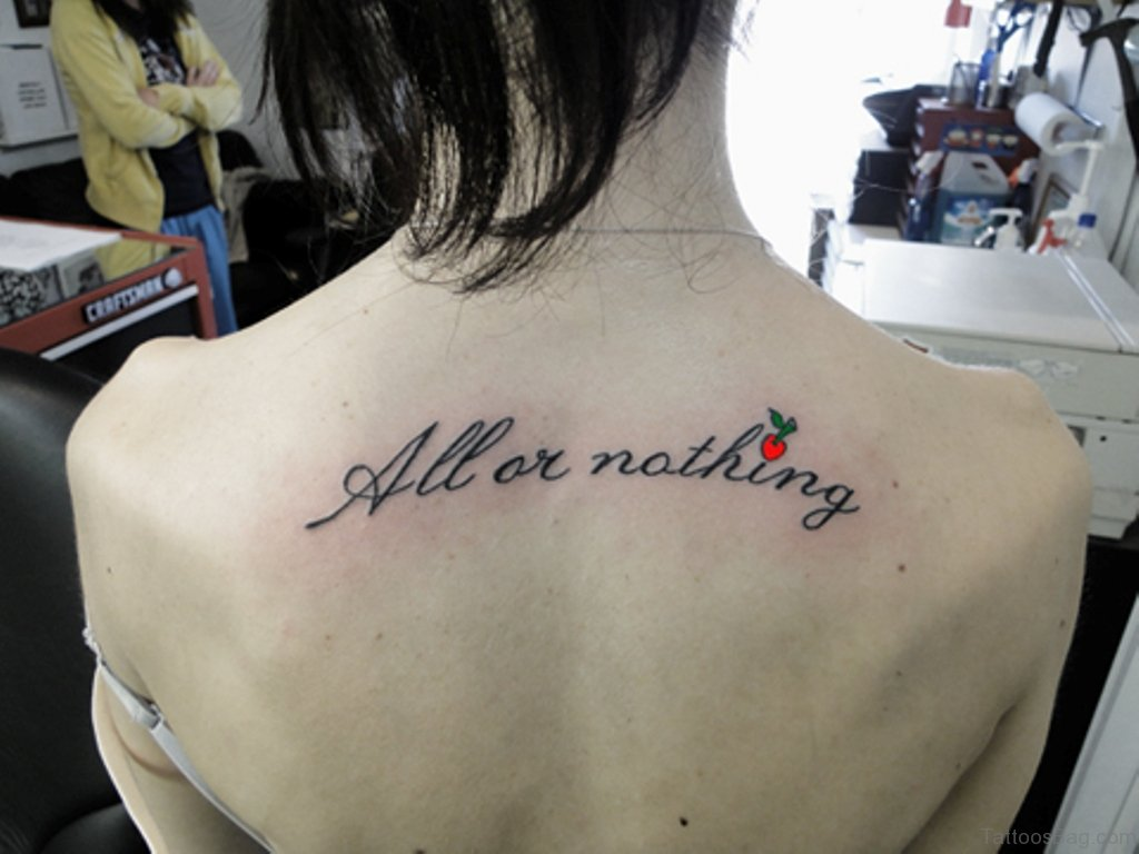 60 Lovable Lettering Tattoos For Back