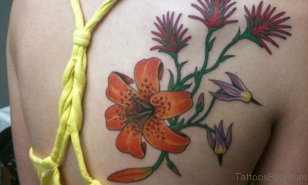 Awesome Lily Flower Tattoo