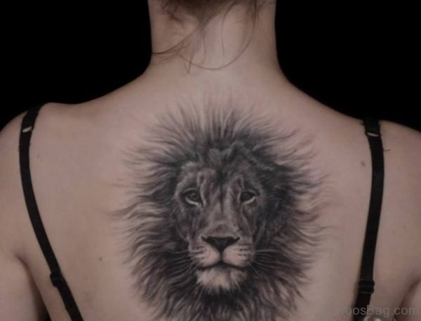 Awesome Lion Face Tattoo