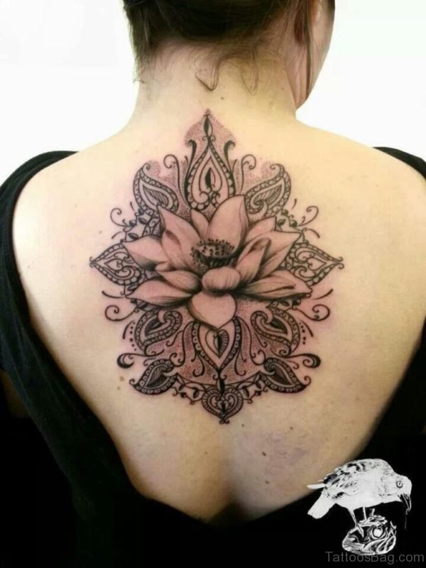 Awesome Lotus Flower Tattoo