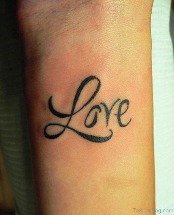 Awesome Love Tattoo On Wrist