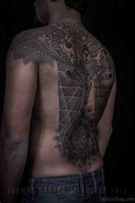 Awesome Mandala Tattoo For Back