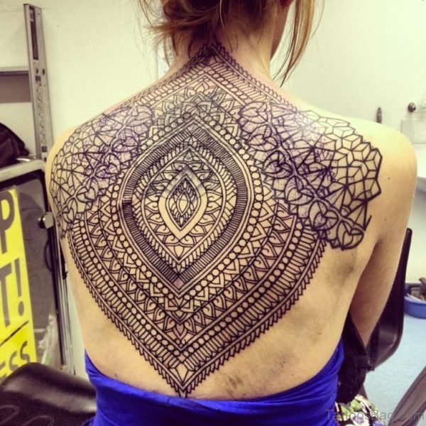 Awesome Mandala Tattoo On Back
