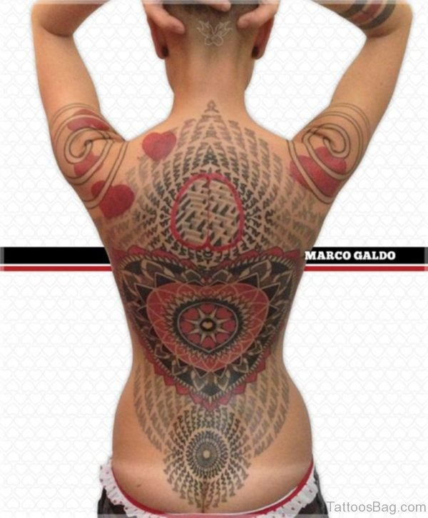 Awesome Mandala Tattoo On Full Back