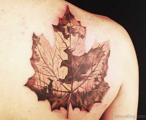 Awesome Maple Leaf Tattoo