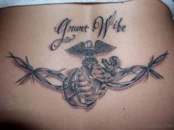 Awesome Name Tattoo On Lower Back