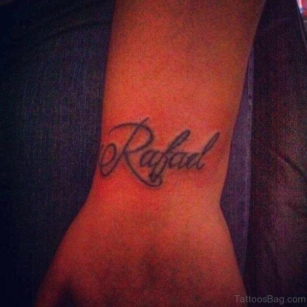 Awesome Name Tattoo On Wrist