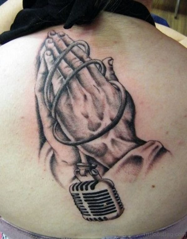 Awesome Praying Hands Tattoo