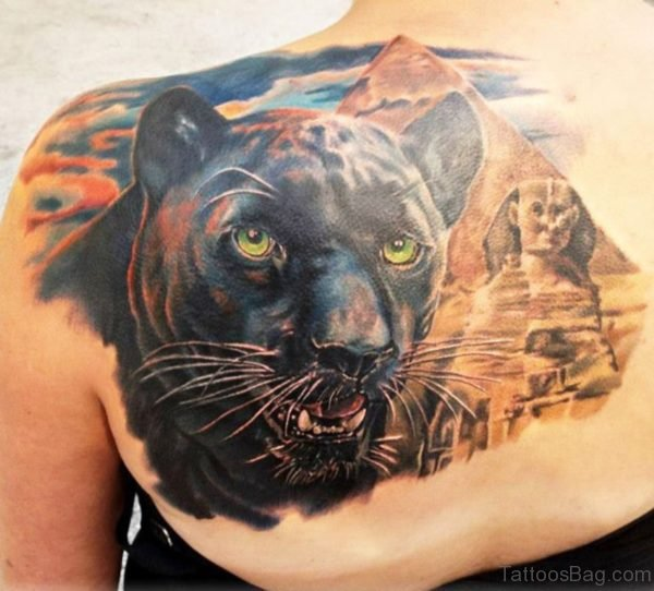 Awesome Realistic Panther Tattoo