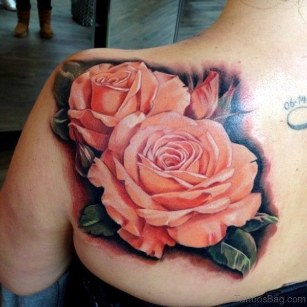 Awesome Rose Flower Tattoo