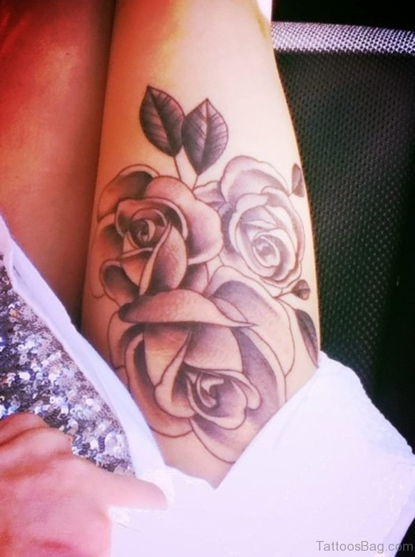 Awesome Rose Tattoo