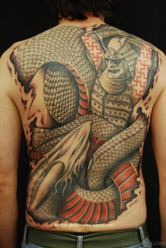Awesome Samurai Tattoo