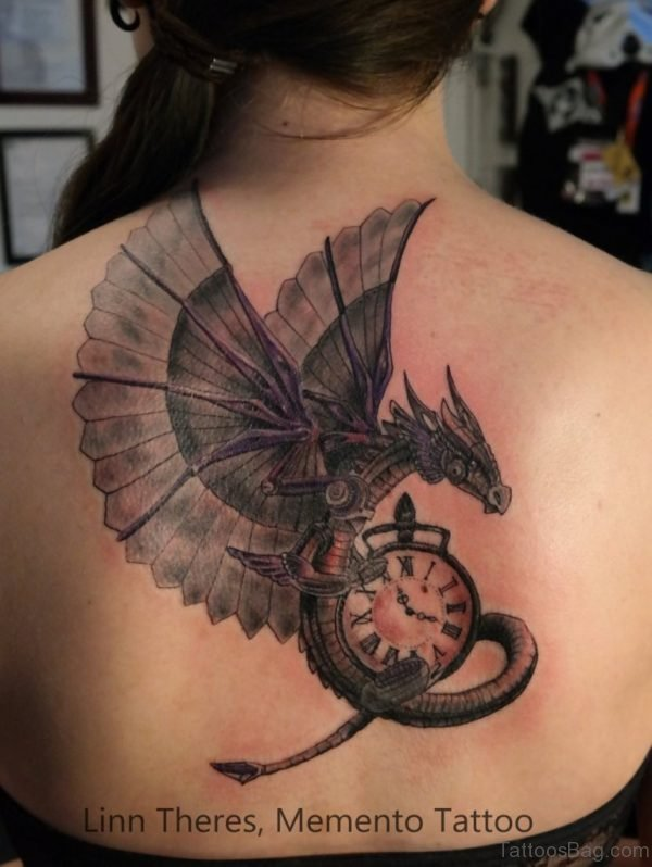 Awesome Steampunk Clock Tattoo