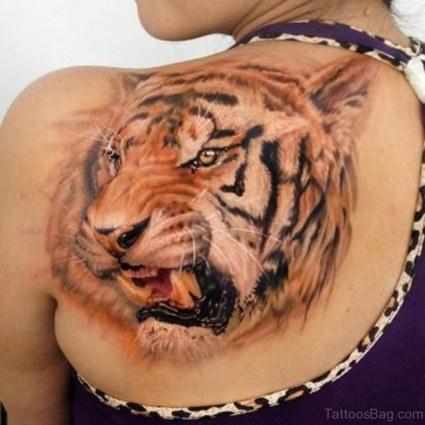 Awesome Tiger Tattoo Design