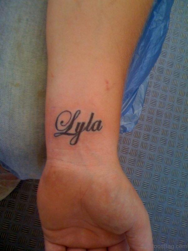 Awesome Word Tattoo On Wrist
