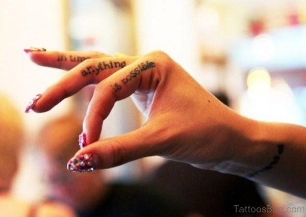 Awesome Wording TattooAwesome Wording Tattoo