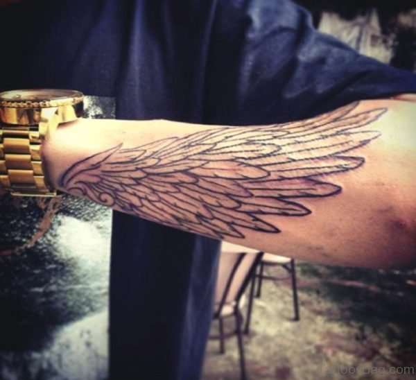 Awesome Wing Tattoo On Wrist