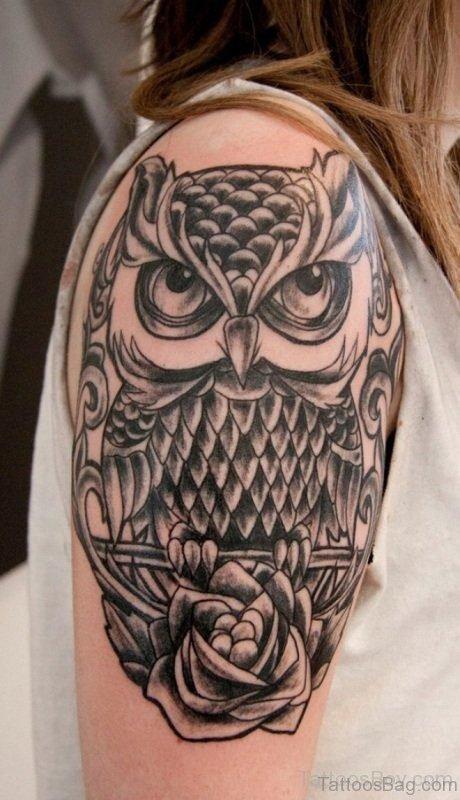 Aztec Owl Tattoo