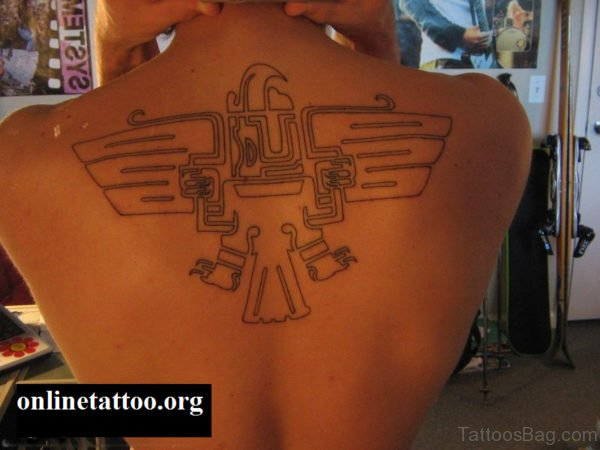 Aztec Tribal Eagle Tattoo