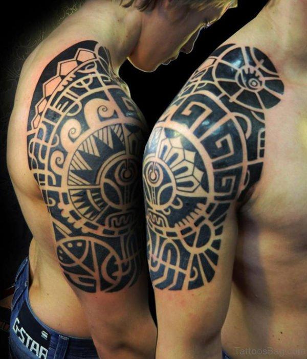 Aztec Tribal Tattoo