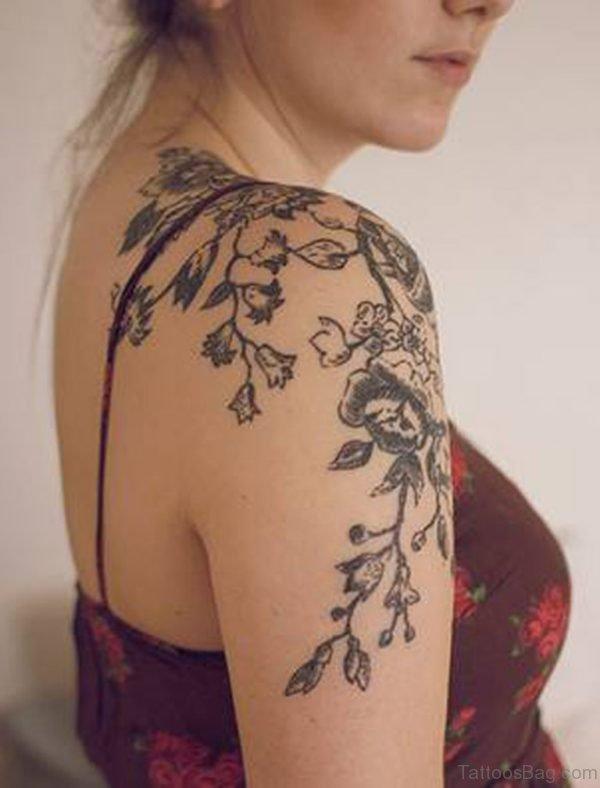 Beautiful Vine Flower Tattoo