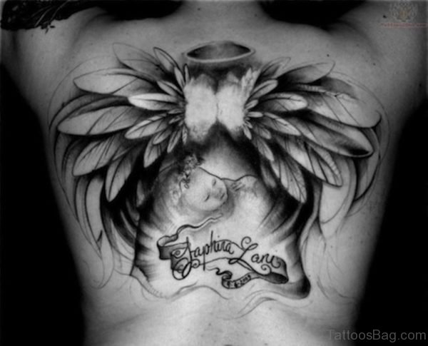 Baby Memorial Angel Tattoo Design