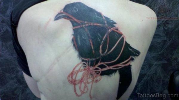 Back Body Crow Tattoo