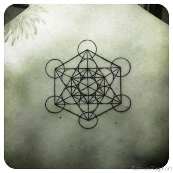 Back Body Geometric Tattoo