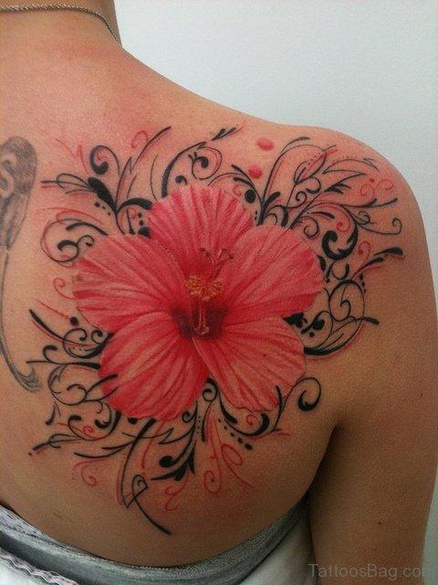 Back Lily Shoulder Tattoo
