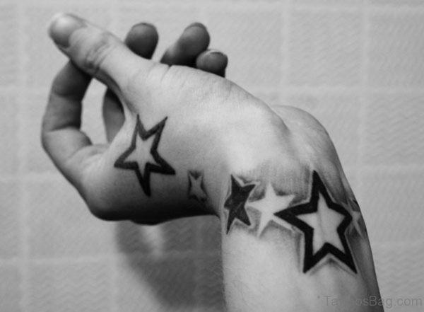 Black Stars Band Tattoo