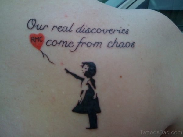 Balloon And Wording Tattoo
