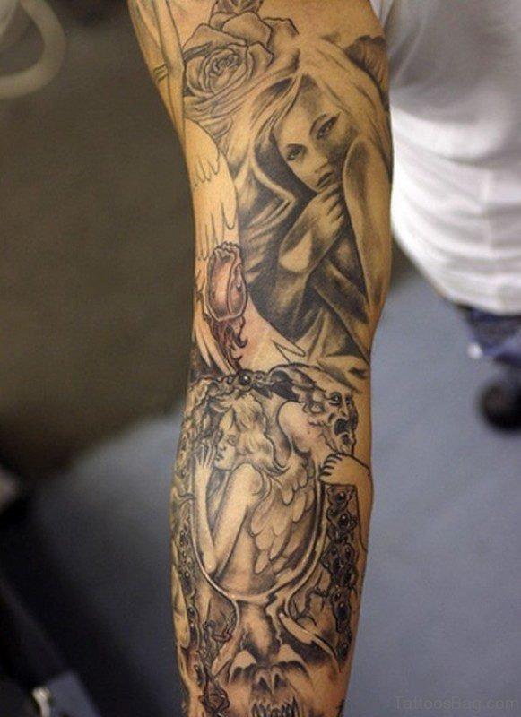 Beautiful Angel Tattoo Design