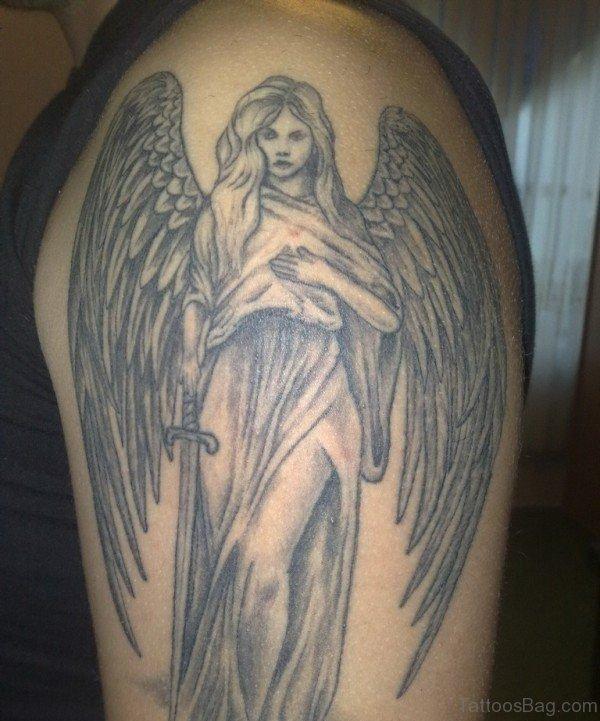 Beautiful Angel Shoulder Tattoo