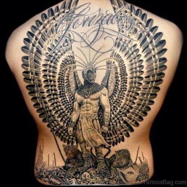 Beautiful Aztec Warrior Tattoo