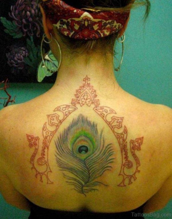 Beautiful Back Tattoo For Girls