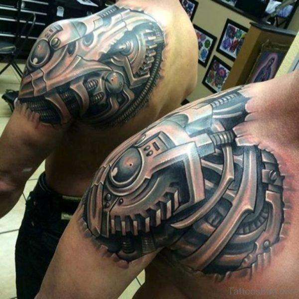 Beautiful Bio Mechanical Tattoo