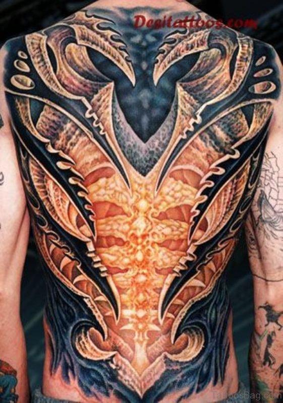 Beautiful Biomechanical Tattoo