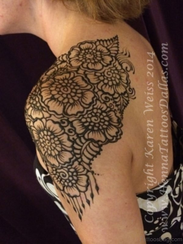 Beautiful Broad Henna Design Tattoo