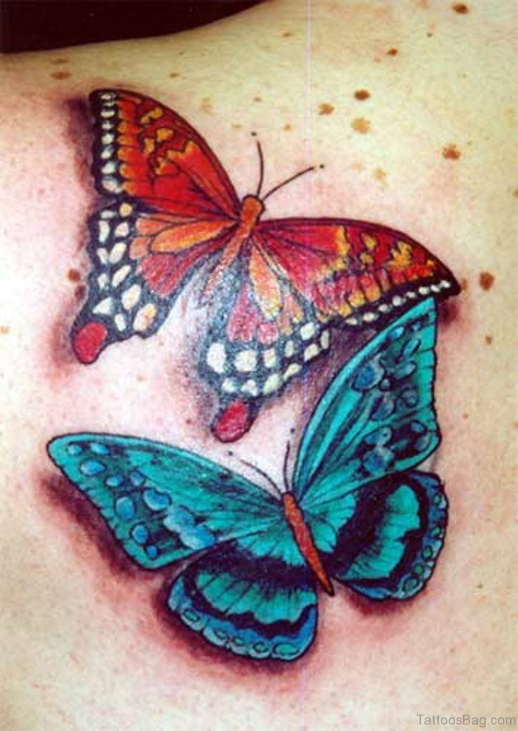 60 amazing butterfly tattoos for Butterfly tattoos gallery