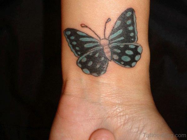 Beautiful Butterfly Tattoo On Wrist