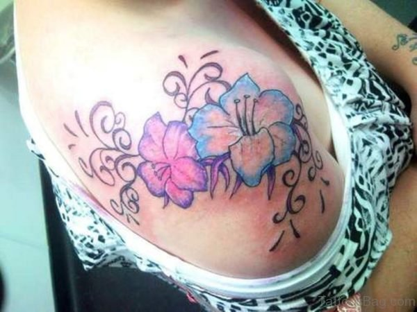 Beautiful Colored Flower Tattoo