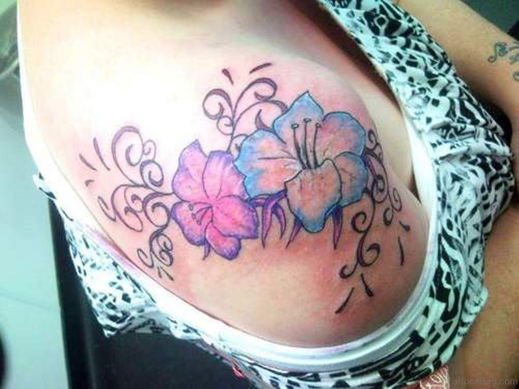 80 splendid flower shoulder tattoos beautiful colored flower tattoo izmirmasajfo
