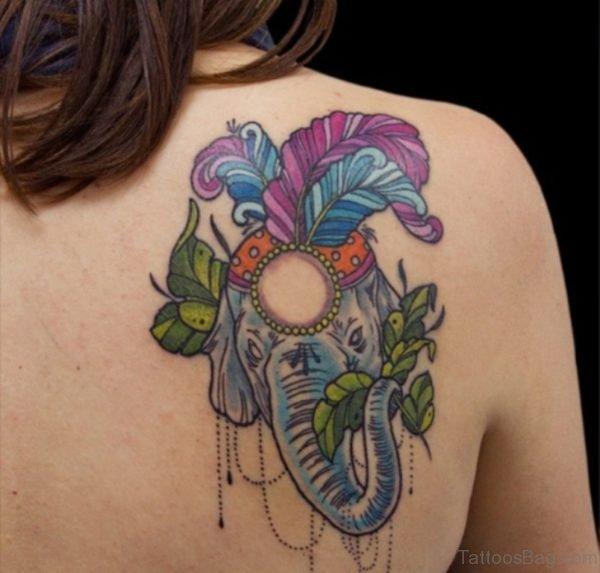 Beautiful Colorful Elephant Tattoo