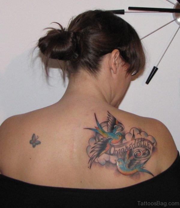 Beautiful Colorful Memorial Angel Tattoo
