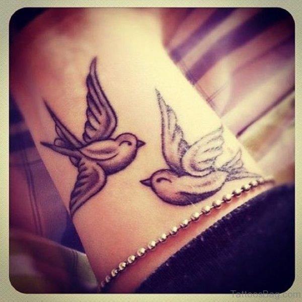 Beautiful Dove Tattoo On Wrist