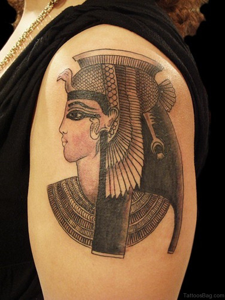 47 graceful egyptian shoulder tattoos